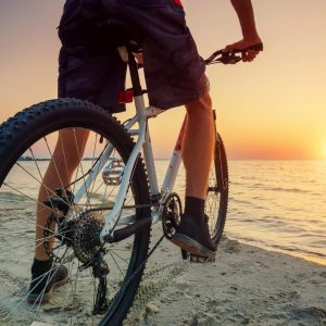 Bike at the sunset