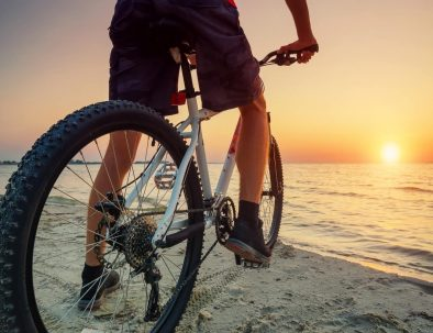 Bike at the sunset