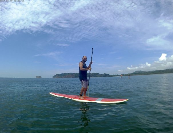 stand up paddle at the sea