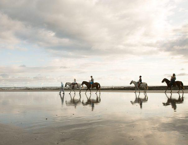 People at the horseback riding tour