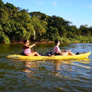 2 womens kayaking