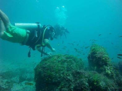 2 people diving at samara