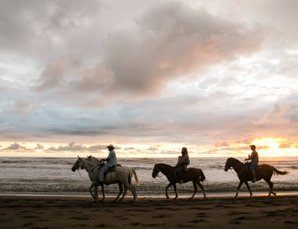 Horseback riding at Samara beach