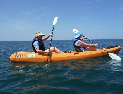 kayaking at the sea