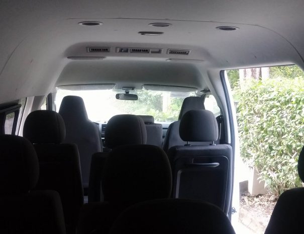Interior of the vans